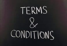 Terms & conditions Stock Photos