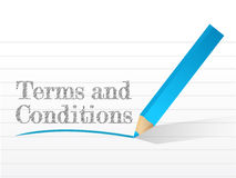 Terms and conditions written Stock Image