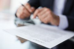 Terms of the contract Stock Image