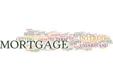 Terms Every Mortgage Holder Should Know Text Background  Word Cloud Concept Stock Image