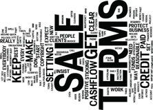 Terms Of Sale Mind Your Own Cashflow Text Background  Word Cloud Concept Stock Photo