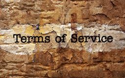 Terms of service Stock Images