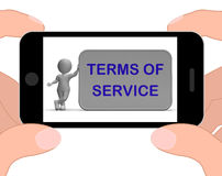 Terms Of Service Phone Shows Agreement And Contract For Use Stock Photo