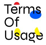 TERMS OF USAGE stamp on white background stock illustration