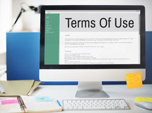 Terms of Use Conditions Rule Policy Regulation Concept Stock Photography