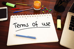 Terms of use Royalty Free Stock Photography
