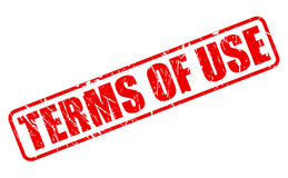 TERMS OF USE red stamp text Royalty Free Stock Photos