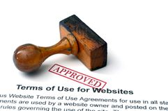 Terms of use for websites Stock Images