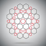 Ternary compounds in the form of a sphere red-gray Stock Photography