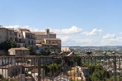 terni umbria панорамы narni Италии Стоковое Фото