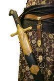 Terno antigo com espada imagens de stock