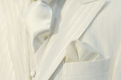 Terno branco imagem de stock