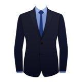 Terno de negócio azul Fotografia de Stock