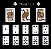 Terno dos clubes dos cartões de jogo Fotografia de Stock