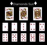 Terno dos diamantes dos cartões de jogo Fotos de Stock Royalty Free
