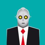Terno e gravata do homem de negócios do robô ilustração do vetor