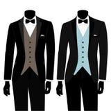 Terno e smoking do ` s dos homens do casamento Imagem de Stock Royalty Free