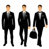 Terno e smoking do ` s dos homens do casamento coleção Imagem de Stock Royalty Free