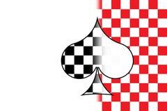 Terno e tabuleiro de xadrez ilustração royalty free