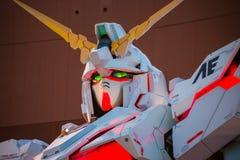 Terno móvel sem redução RX-0 Unicorn Gundam no mergulhador City Tokyo Plaza no Tóquio, Japão imagens de stock royalty free
