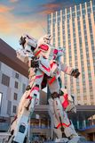 Terno móvel sem redução RX-0 Unicorn Gundam no mergulhador City Tokyo Plaza no Tóquio, Japão fotos de stock royalty free