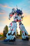 Terno móvel sem redução RX-0 Unicorn Gundam no mergulhador City Tokyo Plaza no Tóquio, Japão fotos de stock