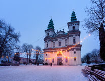 Ternopil的希腊天主教徒大教堂,乌克兰 库存照片
