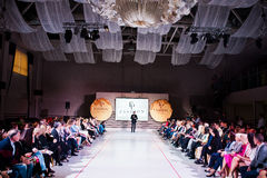 Ternopil, Ουκρανία - 12 Μαΐου 2017: Πρότυπα μόδας στο Podolyan Στοκ εικόνα με δικαίωμα ελεύθερης χρήσης