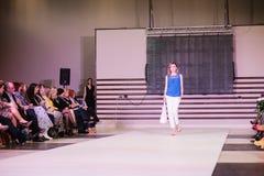 TERNOPIL УКРАИНА - 17-ОЕ МАЯ: Неделя моды Podolyany 17-ое мая 2015 Стоковое Изображение RF