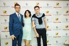 TERNOPIL УКРАИНА - 17-ОЕ МАЯ: Неделя моды Podolyany 17-ое мая 2015 Стоковые Фото