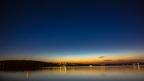 Ternopil city,Blue sky,night royalty free stock images