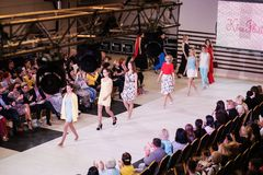 TERNOPIL DE OEKRAÏNE - MEI 17: De Week van de Podolyanymanier 17 mei, 2015 Royalty-vrije Stock Foto