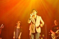 TERNOPIL, UCRÂNIA - MAIO 19: Grupo de rock cristão Fotografia de Stock Royalty Free