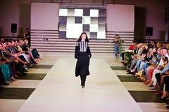 TERNOPIL UCRANIA - 17 DE MAYO: Semana de la moda de Podolyany 17 de mayo de 2015 Foto de archivo libre de regalías