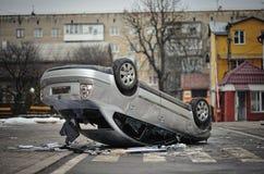 Ternopil, UCRANIA - febrero de 2014: Euromaidan revolución imagen de archivo
