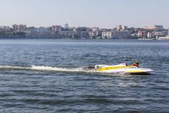 Water sports car in competitions Stock Photos