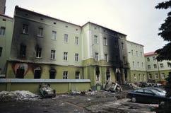 Ternopil, UKRAINE - FEBRUARY 2014: Euromaidan. Revolution. royalty free stock image