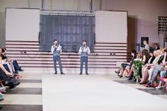 TERNOPIL UKRAINE - MAY 17: Podolyany Fashion Week.  May 17, 2015 Stock Photo