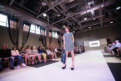 TERNOPIL UKRAINE - MAY 17: Podolyany Fashion Week.  May 17, 2015 Stock Photography