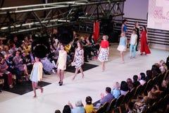 TERNOPIL UKRAINE - MAY 17: Podolyany Fashion Week.  May 17, 2015 Stock Photos