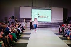 TERNOPIL UKRAINE - MAY 17: Podolyany Fashion Week.  May 17, 2015 Stock Image