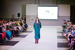 TERNOPIL UKRAINE - MAY 17: Podolyany Fashion Week.  May 17, 2015 Royalty Free Stock Photography