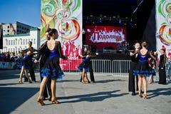 Ternopil, Ukraine - October 1, 2017: Ballroom dancing kids at Po. Dolyany Show Stock Photos