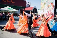 Ternopil, Ukraine - October 1, 2017: Ballroom dancing kids at Po. Dolyany Show Royalty Free Stock Photo