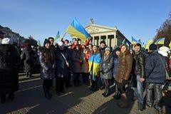 Ternopol. Ukraina. på december 4 2013. Ungdomarför suppo Arkivbild
