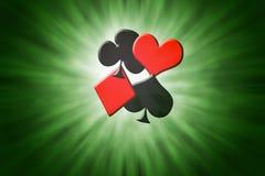Ternos de cartões do póquer Imagem de Stock Royalty Free