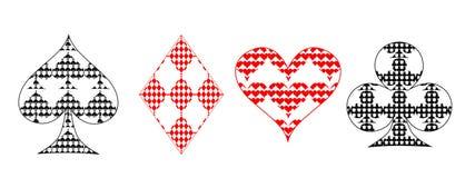 Ternos do cartão Imagens de Stock Royalty Free