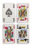Ternos dos cartões de jogo Imagens de Stock Royalty Free