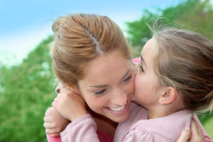 Ternura da família foto de stock royalty free
