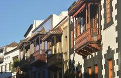 Teror balconies 2 Stock Photo
